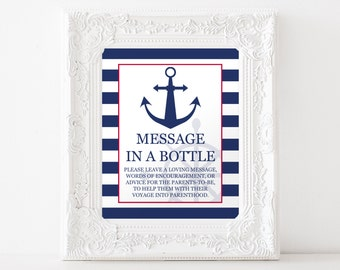 Message In A Bottle, Nautical Baby Shower, Item 205