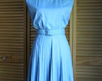 Vintage! 1950's dress. Norman Wiatt. Blue dress.