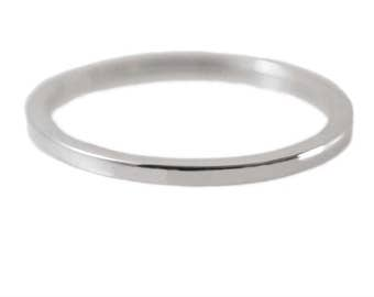 Delicate 14kt White Gold Ring