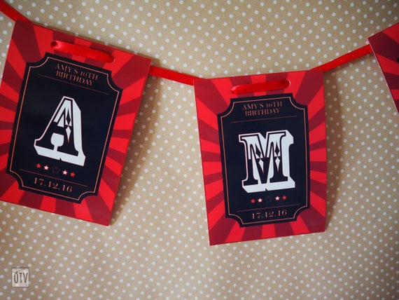New** Movies HOLLYWOOD Party Bunting - PRINTABLE Pdf Digital File