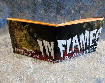 CLEARANCE In Flames Wallet DIY Melodic Death Metal Upcycled Magazine #2