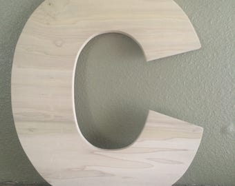 "8""  Block Font Unfinished Wooden Letters / DIY Unfinished Wooden letter / wooden letters / Block Font"