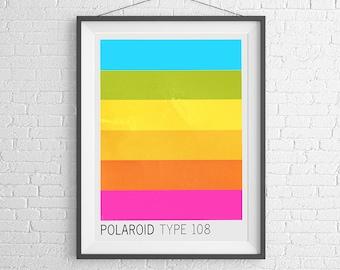 Polaroid 108 Film - Vintage Film Box - 35mm Film - Ilford Kodak - Art Print Poster