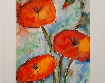 Sketched Poppies