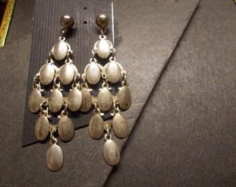 Vintage Silver Chandelier Earrings
