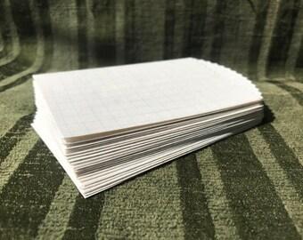 Handmade graph paper pockets