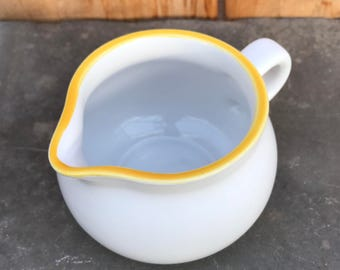 Dansk Mesa Creamer or Small Pitcher with Yellow Rim