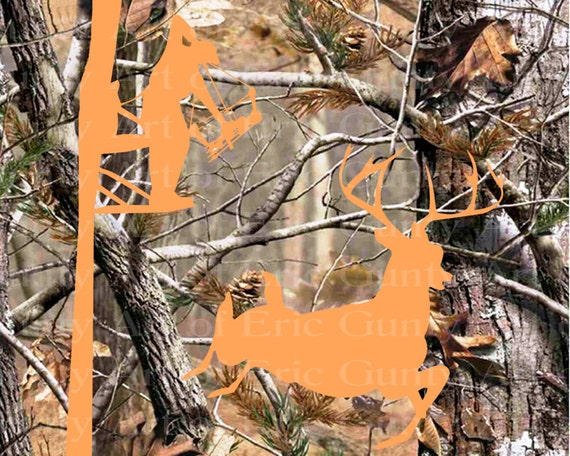 Deer Bow Hunting Camo Birthday - Edible Cake and Cupcake Topper For Birthday's and Parties! - D22150
