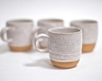 Small Tea Cups - Large Espresso Mugs - Handmade Pottery Mugs - Ceramic Mugs -Espresso Mugs - Handmade Pottery - Rustic - One of a kind