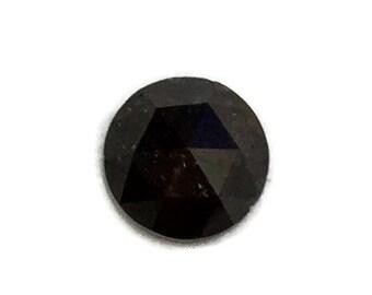 Christmas Ring, Natural Black Diamond, Round natural diamond, 1.44 carat Rose Cut Rustic Diamond, Loose Black Diamond, Free Custom Design