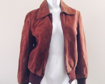 Suede leather jacket