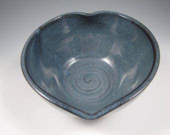 Heart Bowl ~ Serving Bowl ~ Pottery Heart Bowl ~ Heart Shaped Bowl