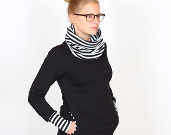 Collar shirt Lotti / / black stripes