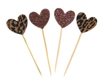 Heart cupcake toppers, food picks
