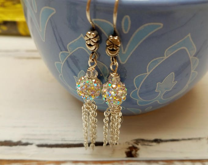 tassel drop earrings boho glam style