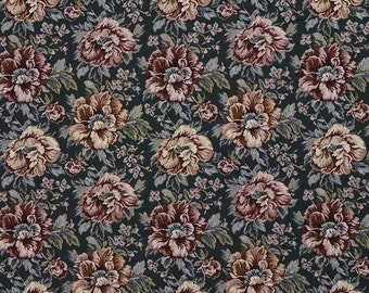 Green And Red Floral Tapestry Upholstery Fabric By The Yard | Pattern # F655