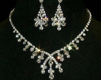 Style # 12877 - Crossover Pear Necklace and Earring Set