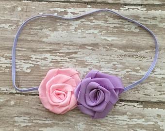 Satin rosette headband