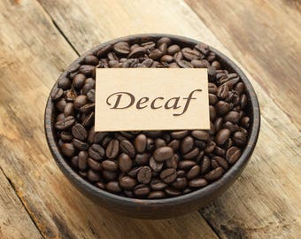 Decaf Coffee, 1 lb of Roasted Decaf Coffee, Single Orgin