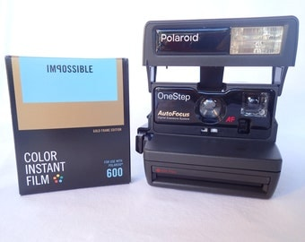 POLAROID ONESTEP AUTOFOCUS tested and with Impossible film, vintage, analog, instant party camera G3 106