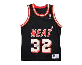 Vintage Harold Miner Miami Heat Champion Jersey