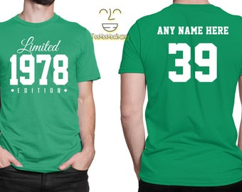 1978 Limited Edition 39th Birthday Party Shirt, 39 years old shirt, limited edition 39 year old, 39th birthday party tee shirt