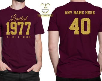 1977 GOLD Limited Edition 40th Birthday Party Shirt, 40 years old shirt, limited edition 40 year old, 40th birthday party tee shirt