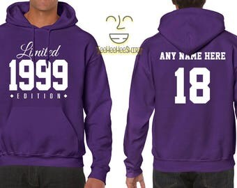 1999 Limited Edition B-day Hoodie 18th Birthday Gift Cool swag mens womens ladies hoodie hooded sweatshirt sweater Unisex