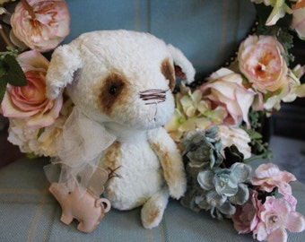 Available now~*~ Squeek the OOAK unique artist teddy bear puppy dog
