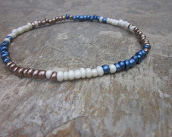 beaded anklets color block anklet stretch anklet seed beads bohemian anklets custom minimalist yoga beaded anklet unisex stretch anklet