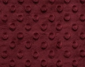 Merlot Minky Dot - Cuddle Dot by Shannon Fabrics - by the Yard - Fat Quarter - Fat Half
