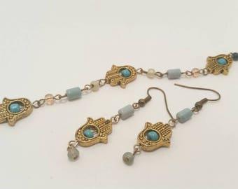 Heart of Buddha Bracelet and Earrings Set