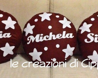Pillow felt chocolate stars handmade