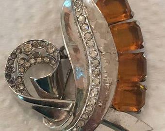 Crystal 1940's Shoe Clip