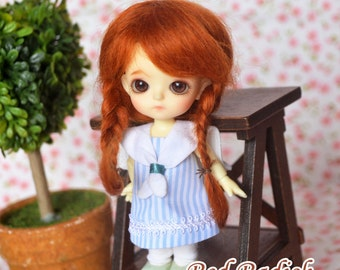 bjd doll girl wig W-M2 (2 colors) 1/12 lati white fl pukipuki