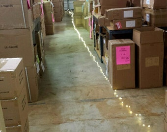 Up to 300 feet! Extra Long Fairy Lights - 300 to 900 lights.  Plug-in only.  Silver or Copper Wire.  Great event or wedding lights.