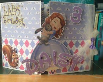 Sofia the first birthday card, Sophia the first birthday card, Sofia 1st, Sophia 1st, girls birthday, kids birthday, Disney birthday,