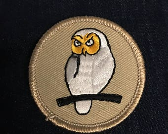 White Owl Patch (1) - bsa forest Harry Potter hedwig