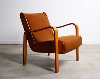 Rare Mid Century Lounge Chair by Thonet