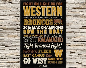 Western Michigan University Art - Canvas or Poster - Graduation Gift