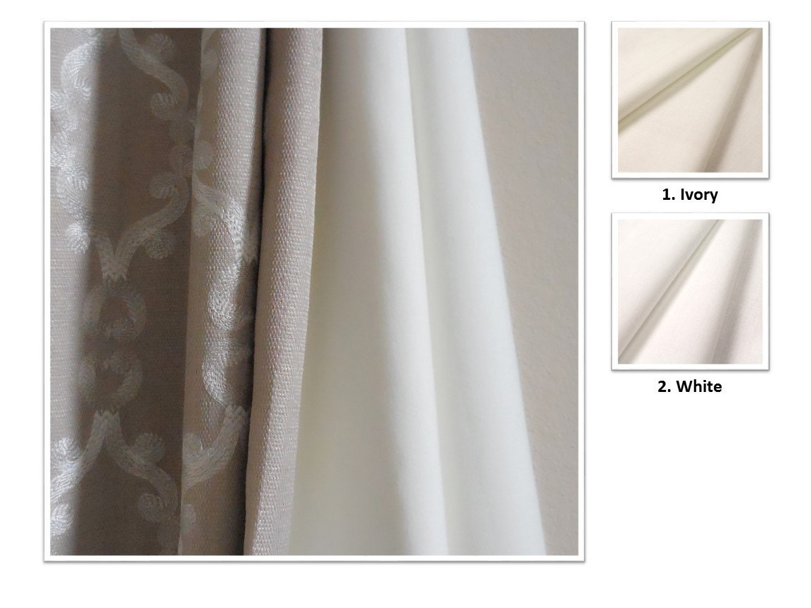 2 colors blackout lining upgrade to listing drapery panel for Double width curtain lining