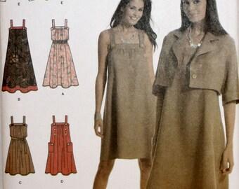 Misses' Dress - Jumper - Sundress - Jacket - Sewing Pattern - Simplicity 3738 - New - Uncut - Size 6, 8, 10, 12, 14