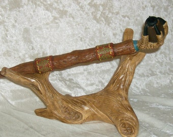Native Inspired Smoking Pipe Large Eagle Claw