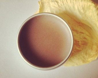 cocoa + sandalwood bronzer. plantbased cream foundation. vegan, organic + handmade botanical makeup.