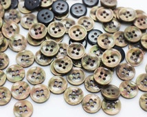 Metallic Bronze Button, Stylish Dark Gold Buttons, Shiny Buttons,Four Holes Resin Button,Deco DIY Craft Bead, Blouse Shirt Button, 11mm