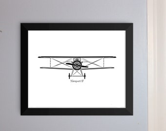 KillerBeeMoto: Limited Print Vintage World War I Nieuport 17 Fighter Plane Print 1 of 100