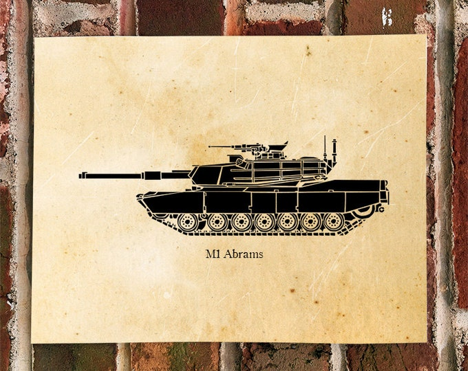 KillerBeeMoto: Limited Print M1 Abrams Main Battle Tank Print 1 of 100