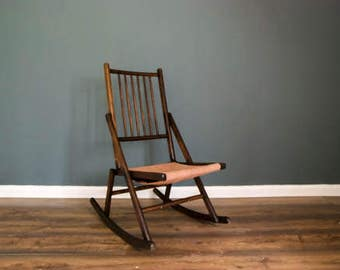 Campaign rocking chair