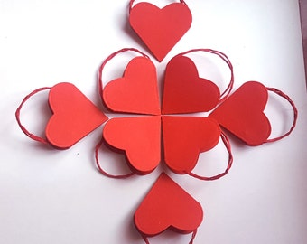 10 heart shaped baskets mignon