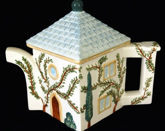 Swid Powell Cypress Teapot Tiny Imperfections Garden House Theme